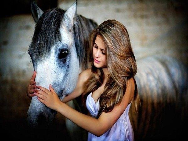 Une dame et son cheval